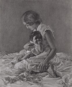 Madonna_and_Child_with_Roses_by_Leslie_Adams