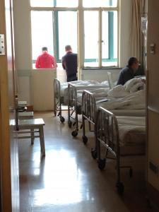 Hospital room in downtown Shanghai hospital