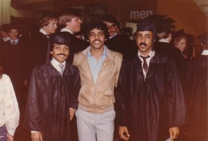 U. T.  Graduation day (June 13, 1981) - left