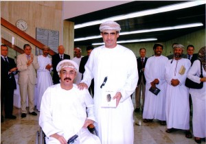 With his excelency Dr. Mohamed Al-Rumhy, Oil and Gas Minister