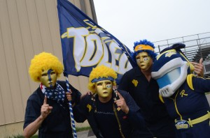 Sherry as Rocksy with Blue Crew by Crystal Hand_The University of Toledo