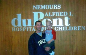 Tom Dusza and Jacob following transplant
