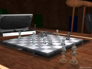 """""""Chessmate"""" was an animated short Eric Miller created as a UT student in 2001."""