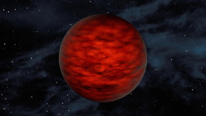 A young, free-floating world sits alone in space in this illustration from NASA/Jet Propulsion Laboratory at the California Institute of Technology. The object, called WISEA J114724.10-204021.3, is thought to be an exceptionally low-mass brown dwarf, which is a star that lacks enough mass to burn nuclear fuel and glow.