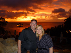 Nicole Dominiak and Sean Powers on their honeymoon in St. Lucia.