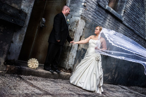 Nicole Dominiak and Sean Powers on their wedding day in 2012